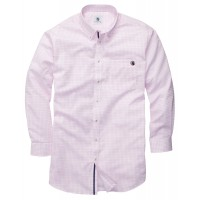 The Goal Line Shirt - Pink Tattersall
